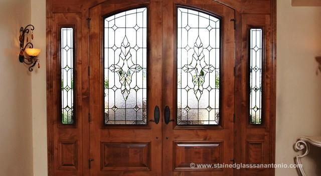 Stained Glass Entryway Doors Scottish Stained Glass San