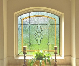 Stained Glass Bathroom Windows