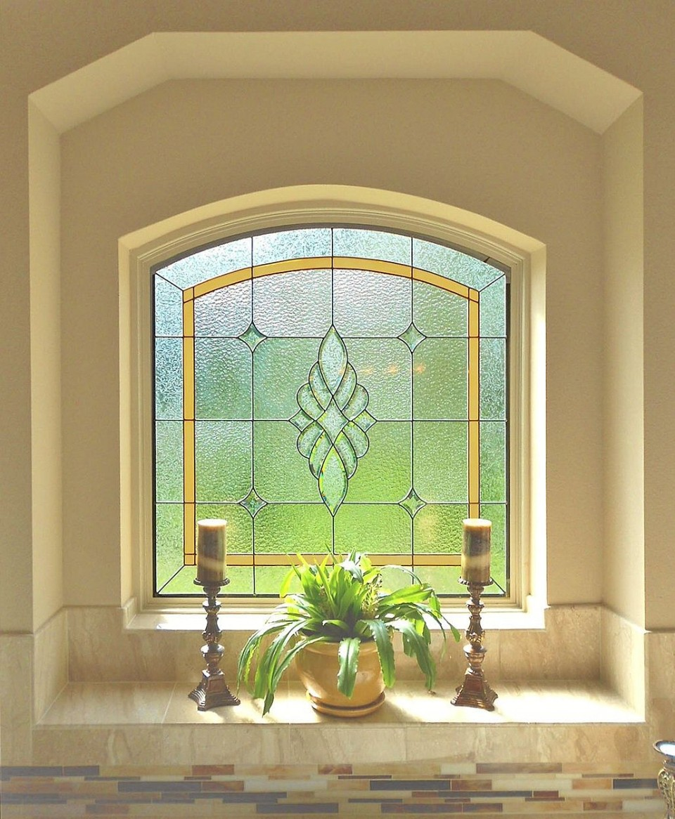 San Antonio Bathroom Stained Glass