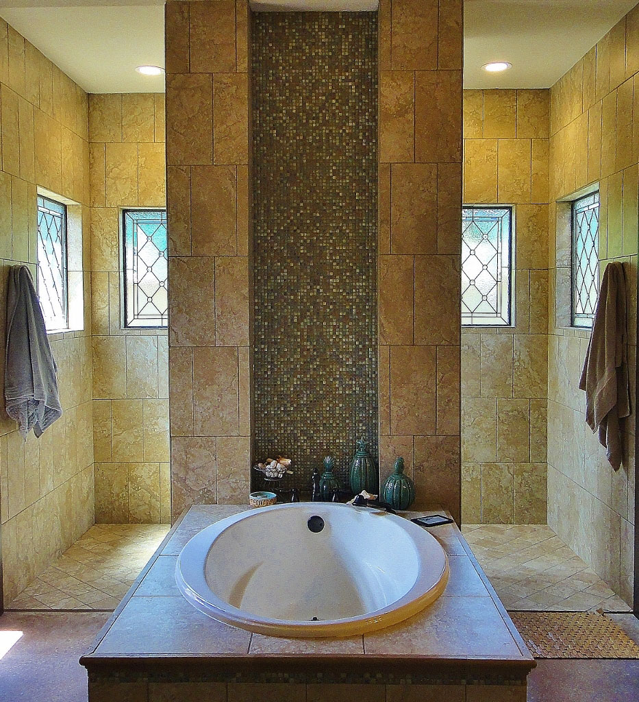 san antonio stained glass bathroom