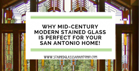 mid-century modern stained glass