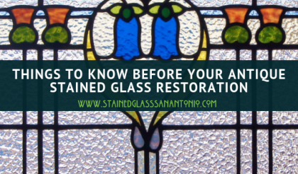 Antique stained glass restoration projects San Antonio